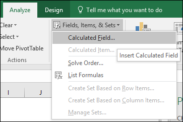 Insert Calculated Field To Add Calculation In Pivot Table