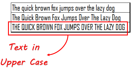 Compare Excel UPPER-Function With Other Cases
