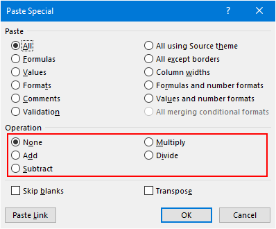 Multiply In Excel Using Paste Special Option