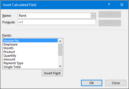 Add Ranks In Pivot Table in Excel