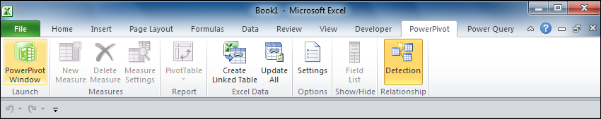 Your New tab For To Enable PowerPivot In Excel 2010
