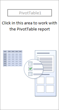insert a blank pivot to use vba to create pivot table in excel