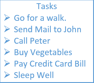 text box list to insert bullet point in excel