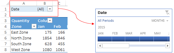 Replace Normal Filter With Pivot Table Timeline