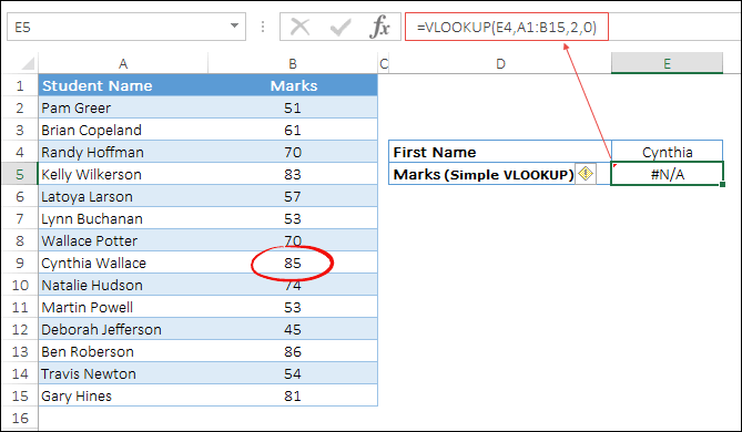 use wildcards with vlookup to lookup first name