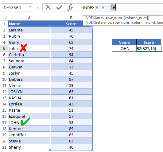How to use INDEX MATCH in Excel - The Last Formula Guide You Need
