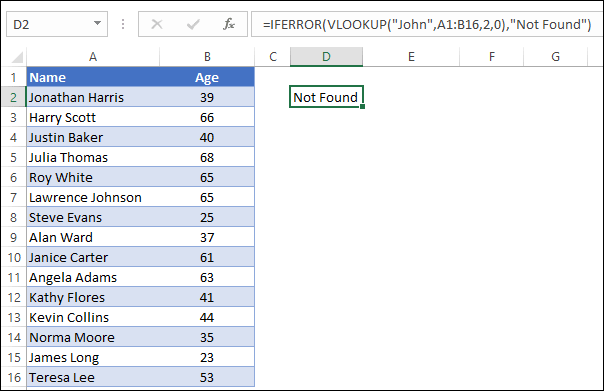 How to use IFERROR with VLOOKUP to Replace #N/A Error [Excel