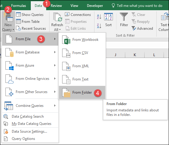 Create a Pivot Table using MULTIPLE FILES in 3 Steps - Power