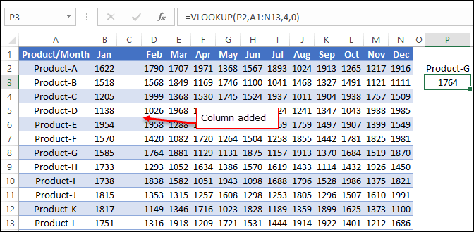 index match removing columns 1