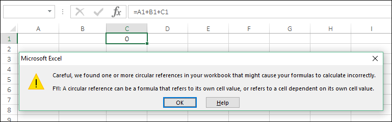 insert a timestamp in excel with circular reference