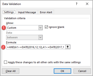The 2-Simple Ways To Create a Data Validation with Date Range