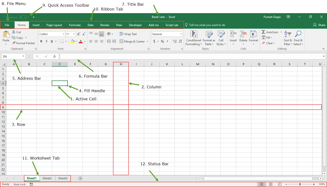 Introduction to Microsoft Excel | Basics Knowledge +