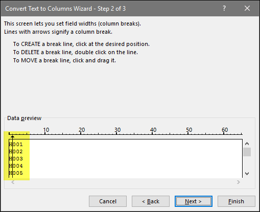 remove-first-character-in-excel-cell-using-text-to-column-click-between