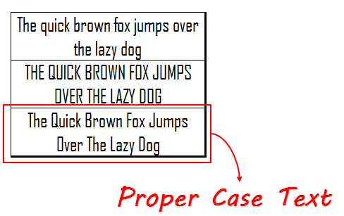 compare text return by proper function with other cases