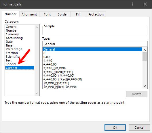 open custom formatting for delta symbol format in excel