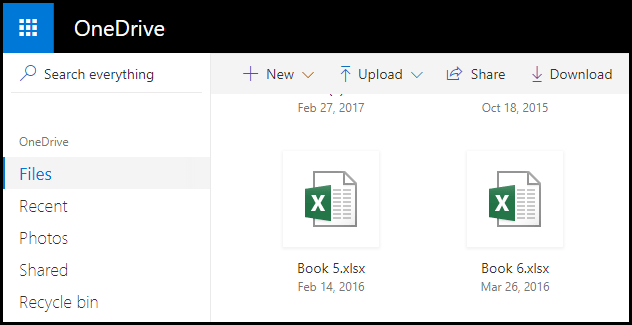open folder in one drive to get old versions of a file