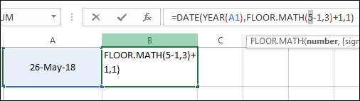 How to Get QUARTER [Formula] from a Date in Excel [Fiscal +