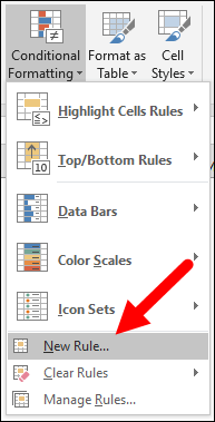 to apply conditional formatting using formulas click on new rule
