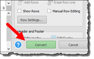 click convert button to convert a pdf file into an excel workbook