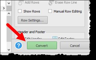 click convert button to convert a pdf file into an excel workbook