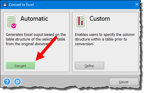 click on the convert button to convert pdf file into an excel workbook