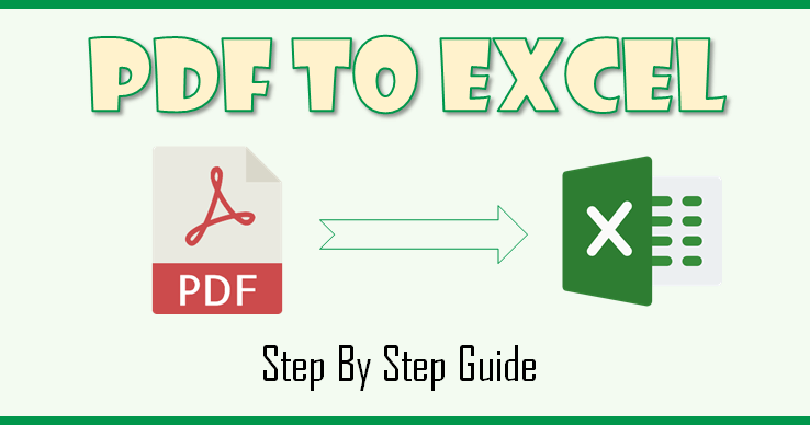 convert excel file into pdf usingable 2 extract step by step