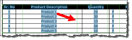 expand and narrow down the columns toconvert a pdf file into an excel workbook
