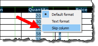 right click on the header and skip it to convert a pdf file into an excel workbookright click on the header and skip it to convert a pdf file into an excel workbook