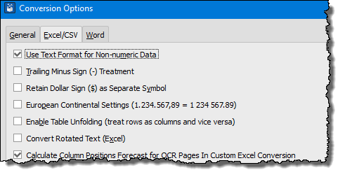 you can use all the formatting options before you convert pdf file into excel workbook