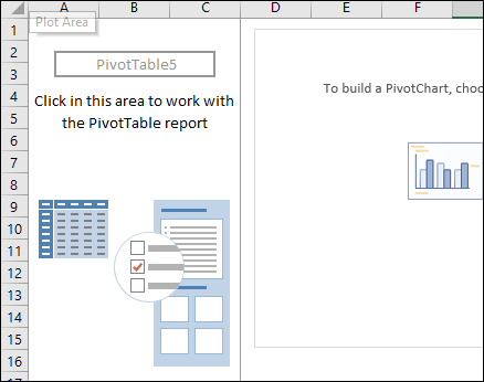 a blank pivot table to create a histogram in excel