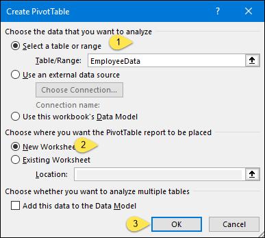 create pivot table window to create a histogram using pivot table and pivot chart