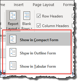 excel pivot table tips tricks changing the layout of a pivot table