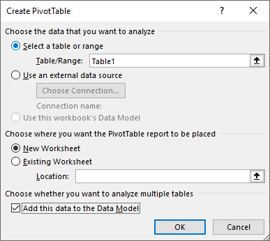 excel pivot table tips tricks to add this data to the data model
