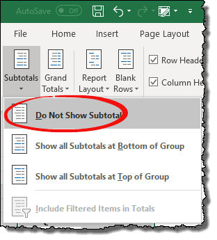 excel pivot table tips tricks to hide unhide subtotals