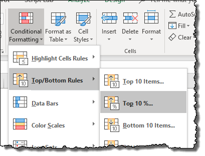 excel pivot table tips tricks toapply top 10 conditional formatting option