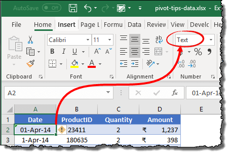 excel pivot tables tips and tricks to data format should be right