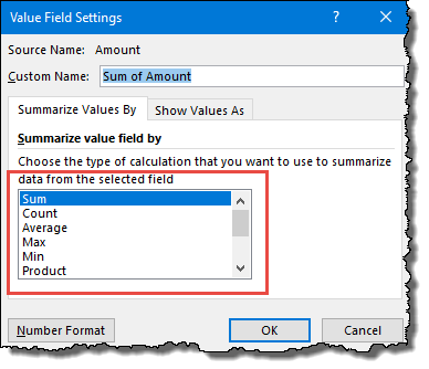 excel pivot table tips tricks to change values settings for value field
