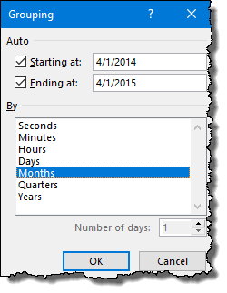excel pivot table tips tricks to group dates select month
