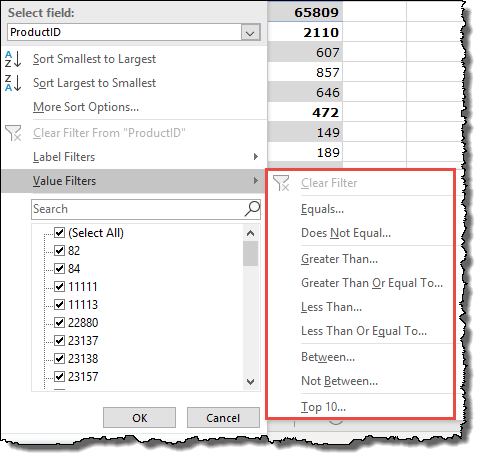 excel pivot table tips tricks to label filter