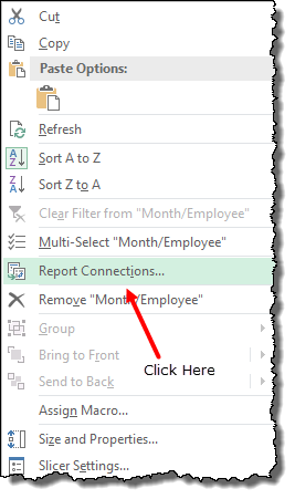 excel pivot table tips tricks to single slicer for all the pivot tables report connections