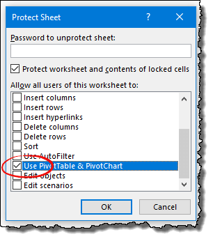 excel pivot table tips tricks to use pivot table in a protected worksheet