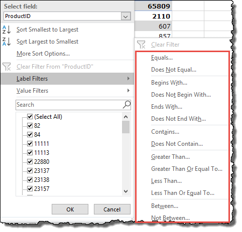 excel pivot table tips tricks to value filter