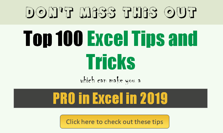 top excel tips tricks which can make you a pro this year