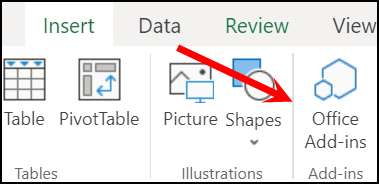 open-add-ins-to-insert-an-app-to-add-checkmark-in-online-excel