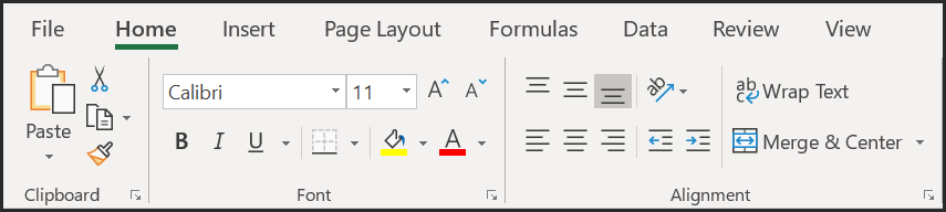 excel ribbon without developer tab