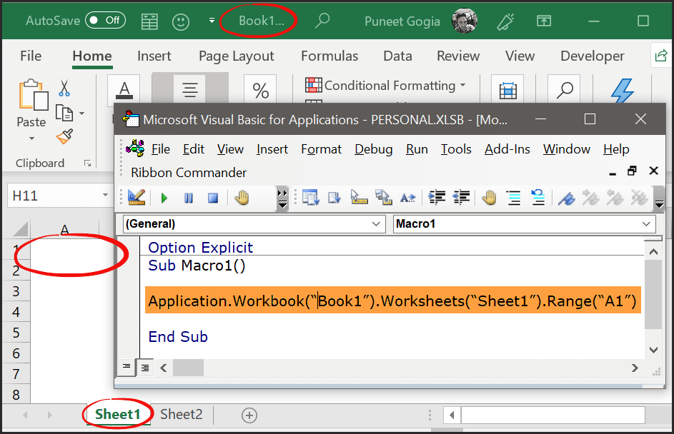 How to Work with Ranges and Cells in VBA (Refer to RANGE Object)