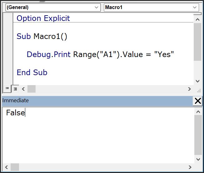 use immediate window with debug print