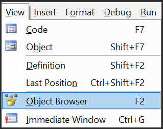 open object browser