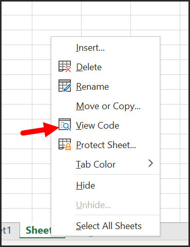 open-view-code-window-to-enter-the-code