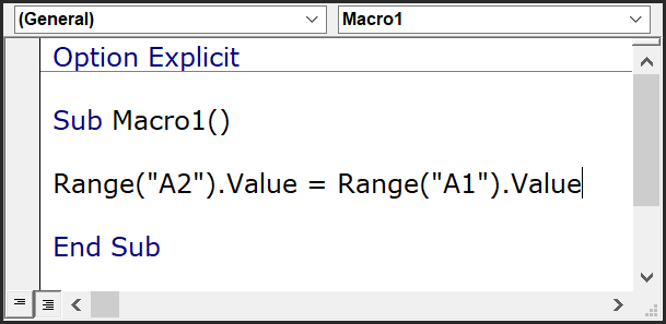 read a value from a cell and write it on another cell